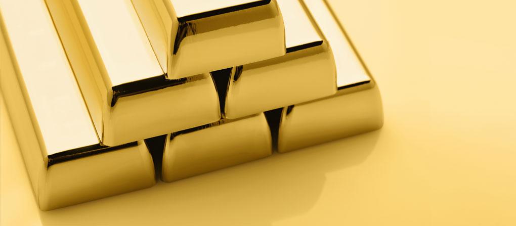 Stack of Gold bullion