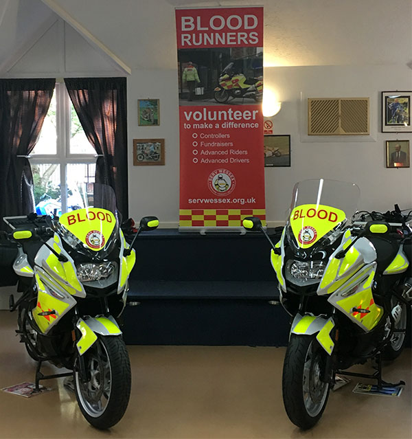 Two new motorbikes for SERV Wessex