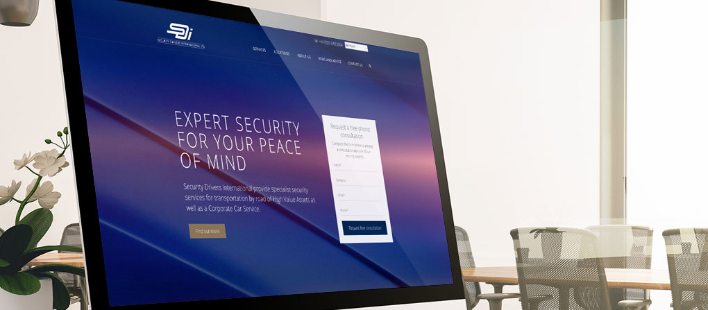 New website on computer screen