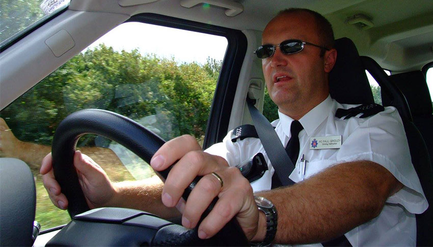 Paul Gridley driving